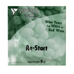 Young's Home Brew Re Start For Red & White Wine Yeast Sachet 5g