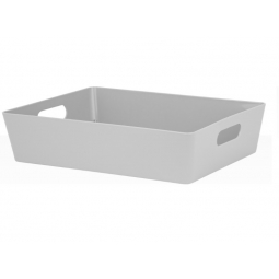 Grey Wham Plastic Large Rectangle Studio Handy Storage Basket 26cm x 35cm 6L