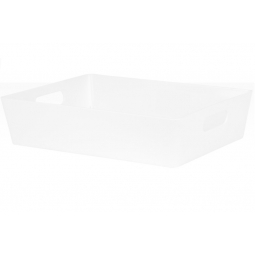 White Wham Plastic Large Rectangle Studio Handy Storage Basket 26cm x 35cm 6L