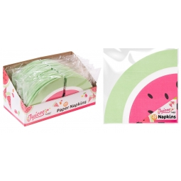 Pack Of 20 Watermelon Napkins Party Tableware Rounded Paper Napkins 33cm x 33cm