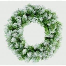 Snowy Tipped Premier 50cm Artificial Green Christmas Wreath Door Decoration