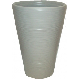 Cool Grey Hereford Ribbed Tall Plastic Planter Patio Shrub Plant Pot 47CM x 33CM