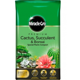 Miracle Gro Premium Cactus Succulent Bonsai Compost With Vital Minerals 6L Bag