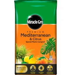 Miracle Gro Premium Mediterranean & Citrus Compost With Vital Minerals 6L Bag