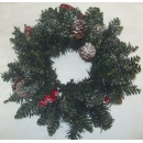 40cm Sherwood Frosted Wreath