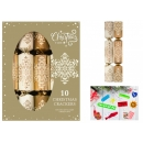 10 Damask Crackers Cream Gold