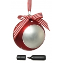 Large 10cm Real Glass Christmas Tree Bauble Dec Personalise Message & Marker Pen