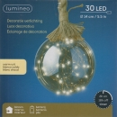 Decorative Wire Light Up Ball On Twisted Rope Battery Operated 30 LEDs 14cm